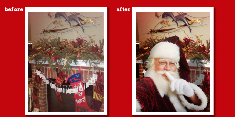 Pic Santa Before And After